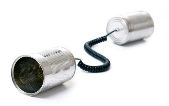 photo shot of communication on white background